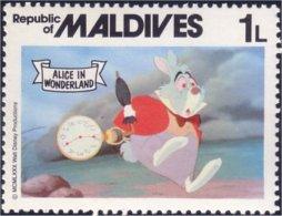 612 Iles Maldives Disney Alice Rabbit Lapin MNH ** Neuf SC (MLD-39e) - Konijnen