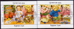 GUERNSEY 1994 SG 651-62 Compl.set In Two Sheetlets Of 6 Used Chrstmas - Guernsey