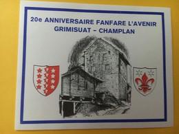 8759 -20 E Anniversaire Fanfare L'Avenir Grimisuat-Champlan Suisse - Musique