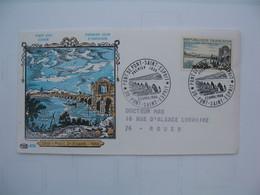 FDC   1966  Pont De Pont De Saint Esprit    N°  1481  Avec Publicité Pour L'Arginine Veyron - 1960-1969