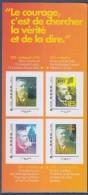 = Jean-Jaurès Collector 4 Timbres LV Cadre Gris Philaposte Création SFIO, Le Discours, Le Panthéon, Le Front Populaire - Collectors