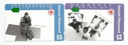 Australian Red-Cross Society, Health & Safety Education.   2 Telephon Cards - Australien