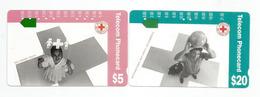 Australian Red-Cross Society, International Red Cross .   2 Telephon Cards - Australie
