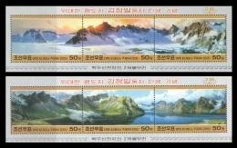 North Korea 2005 Mih. 4859/64 (Bl.611/12) Paintings. 216 Peaks Arownd Lake Chon On Mt. Paektu MNH ** - Korea (Noord)