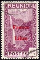 Réunion Obl. N° 218 - Vue -> Bras Des Demoiselles - 1 Ct Violet Surchargé France Libre - Réunion (1852-1975)