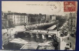 PERPIGNAN (66)  Les Quais (carte Animée: Autos, Tramway) - Perpignan