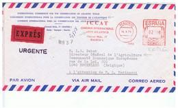CPA-1971-ESPAGNE-ENV-AVION-COMMISSION INTERNATIONALE POUR LA CONSERVATION DES THONIDES-VOIR CACHETS ET TIMBRE - Lettres