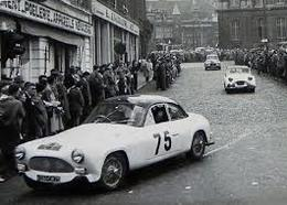 Liège-Rome-Liège Rally 1954  -  Salmson 2300S - Pilotes: Cotton/Lemarle  -  15x10cms PHOTO - Rallyes