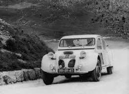 Liège-Rome-Liège Rally 1955  -  Citroen 2CV Dagonet -  Equipe Sendrogne Racing  -  15x10cms PHOTO - Rally