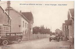 CPA 70 - Saint Loup Sur Semouse - Avenue D'Augrogne - Usine Poirot - Vieille Auto - France
