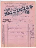 59-Dupont Frères Dépôt & Agence Générale D'Usines..Lille..1901 - Automobile