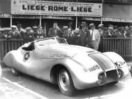 Liège-Rome-Liège Rally 1938  -  Wanderer Streamliner  -  15x10cms PHOTO - Rallyes