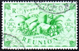 Réunion Obl. N° 235 - Détail De La Série De LONDRES - Productions - 25 Cts Vert-jaune - Réunion (1852-1975)
