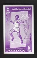 Jordan / Olympic Games Tokyo 1964 / Athletics / Michel 441 B / MNH - IMPERFORATED - Ete 1964: Tokyo
