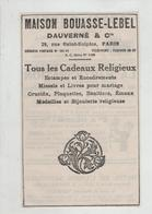 Publicité 1922 Maison Bouasse Lebel Dauverné Paris  Cadeaux Religieux - Pubblicitari