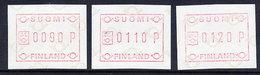FINLAND 1982 Definitive , 3 Different Values MNH / ** .Michel 1 - ATM/Frama Labels