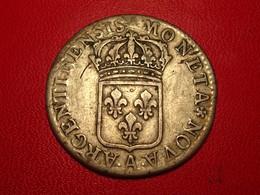 France - Rarissime, Hors Cote - 48 Sols De Strasbourg Sans Date A Paris Louis XIV 7175 - 987-1789 Monnaies Royales