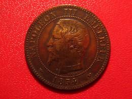 France - 2 Centimes 1854 B Rouen Napoléon III 4556 - Francia