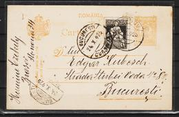 C.P.FERDINAND  Circulata 1925 Cu Obliterare BUCURESTI - World War 1 Letters