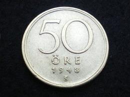 50 ORE ARGENT SUEDE 1948    ( Lot Plrg3/31 ) - Suède