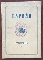 Passeport Espagnol Valable Pour La France. España. Pasaporte. Délivré En 1931 à Palma De Mallorca. Cachets. Vendeur. - Documenti Storici