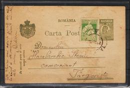 C.P.FERDINAND  Circulata 1922 Cu Obliterare Targoviste - Cartas De La Primera Guerra Mundial