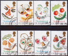GUERNSEY 1995 SG 663-71 Compl.set+m/s Used Greetings Stamps - Guernsey