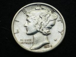 ONE DIME  ARGENT ETATS-UNIS MERCURY 1936 S   ( Lot Plrg3/36 ) - Émissions Fédérales