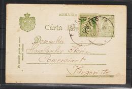 C.P.FERDINAND  Circulata 1922 Cu Obliterare  Craiova - Cartas De La Primera Guerra Mundial