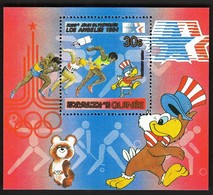 Guinea 1983 / Olympic Games Los Angeles 1984 / Space, Athletics, Handball, Field Hockey, Volleyball / Michel Bl 51 / MNH - Ete 1984: Los Angeles
