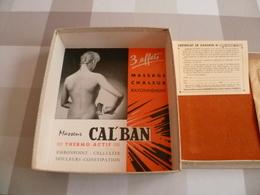 Appareil Vintage De Massage Cal'Ban Avec Sa Boite Publicité - Sciences & Technique