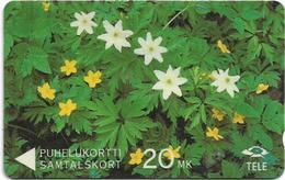 Finland (Sonera) - White And Yellow Anemones, 6FINA, 12-1991, 100.000ex, Used - Finland