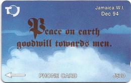 Jamaica - Peace On Earth, 19JAMC, 1995, Used - Jamaica