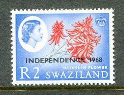 Swaziland 1968 Independence - 2r Msinsi In Flower - Wmk. Sideways MNH (SG 160) - Swaziland (1968-...)