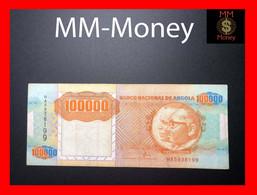 ANGOLA 100.000 100000 Kwanzas 4.2.1991 P. 133 X  ERROR  RARE VF - Angola