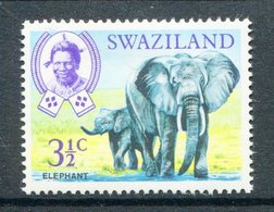 Swaziland 1969-75 Wildlife - 3½c Elephant HM (SG 165) - Swaziland (1968-...)