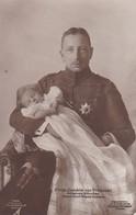 AK Prinz Joachim Von Preussen Mit Seinem Söhnchen Prinz Karl Franz Joseph - Ca. 1910 (36121) - Königshäuser