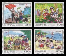 North Korea 2009 Mih. 5437/40 Children's Union Camp MNH ** - Korea (Nord-)