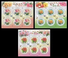 North Korea 2012 Mih. 5907/09 Flora. Flowers. Roses (3 M/S) MNH ** - Korea (Nord-)