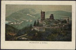Falkenstein Le Château Et Biwels, Carte Artistique,  (2scans) - Bourscheid