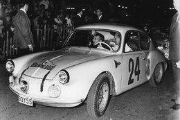 Liège-Rome-Liège Rally 1958  -  Alpine Renault A106  -  Pilotes: Franssen/Laloux  -  15x10cms PHOTO - Rallyes