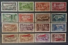 E11US - Lebanon 1926 SG 79-94 Complete Set 16v. Mint - War Refugee Charity Stamps - Lebanon