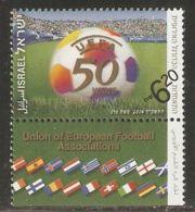 Israel 2004 Mi# 1782 ** MNH - With Tab - UEFA (European Football Union), 50th Anniv. / Soccer - Israel