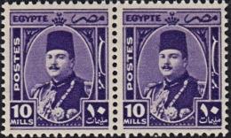 A0865 EGYPT 1944, SG 296  10m King Farouk, MNH Pair - Egypt
