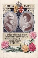 AK Zur Erinnerung An Die Silberne Hochzeitsfeier Des Württembergischen Königspaares 1911 (36125) - Königshäuser