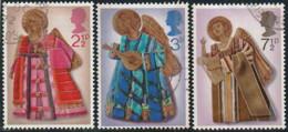 GB 1972 Yv. N°669 à 671 - Noël - Les Anges Musiciens - Oblitéré - 1952-.... (Elizabeth II)