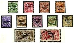 IRELAND, Classics, Yv 25/28, 30, 32/34, 36/38, Used, F/VF, Cat. € 282 - 1922-37 Stato Libero D'Irlanda