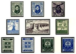 IRELAND, Commemoratives, Yv 55/64, */** MLH/MNH, F/VF, Cat. € 34 - 1922-37 Stato Libero D'Irlanda