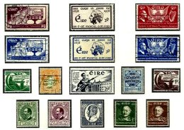 IRELAND, Commemoratives, Yv 71/76, 93/100, */** MLH/MNH, F/VF, Cat. € 52 - Unused Stamps