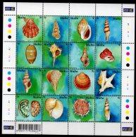 2003 Malta - Seashels / Muscheln - Sheetlet Of 16 V - Paper - MNH** MI 1286/1301 - Malte